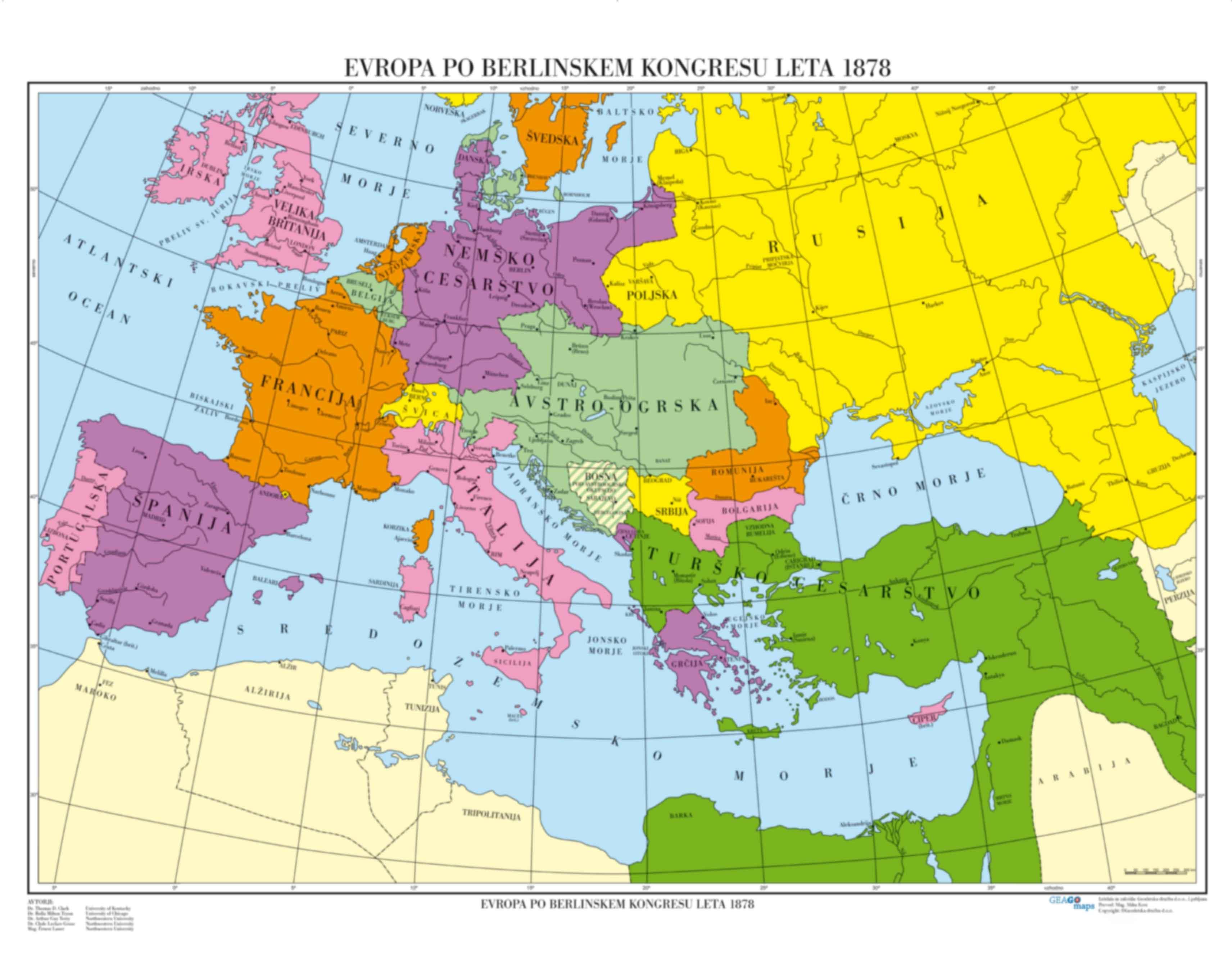 Evropa po Berlinskem kongresu leta 1878