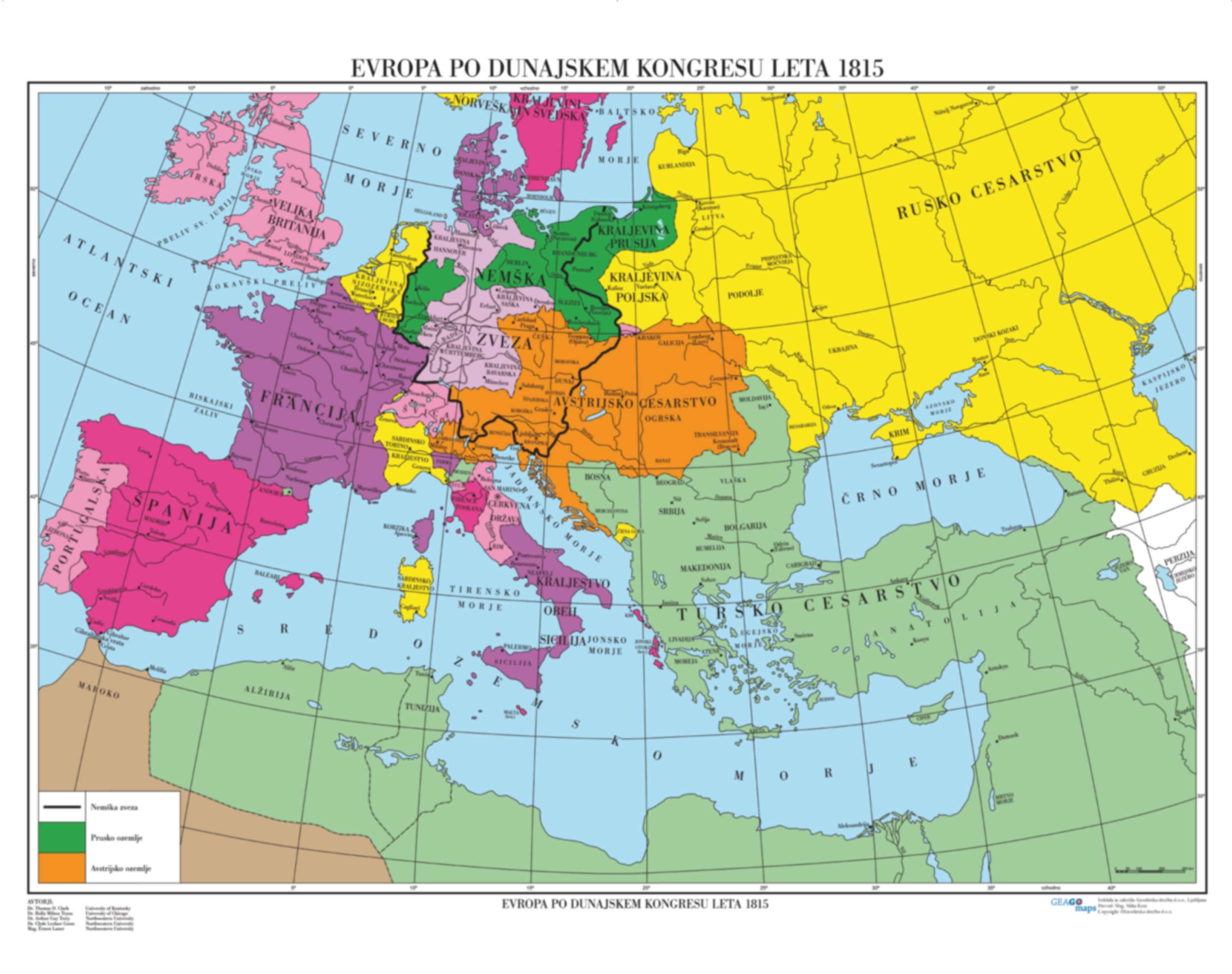 Evropa po Dunajskem kongresu leta 1815