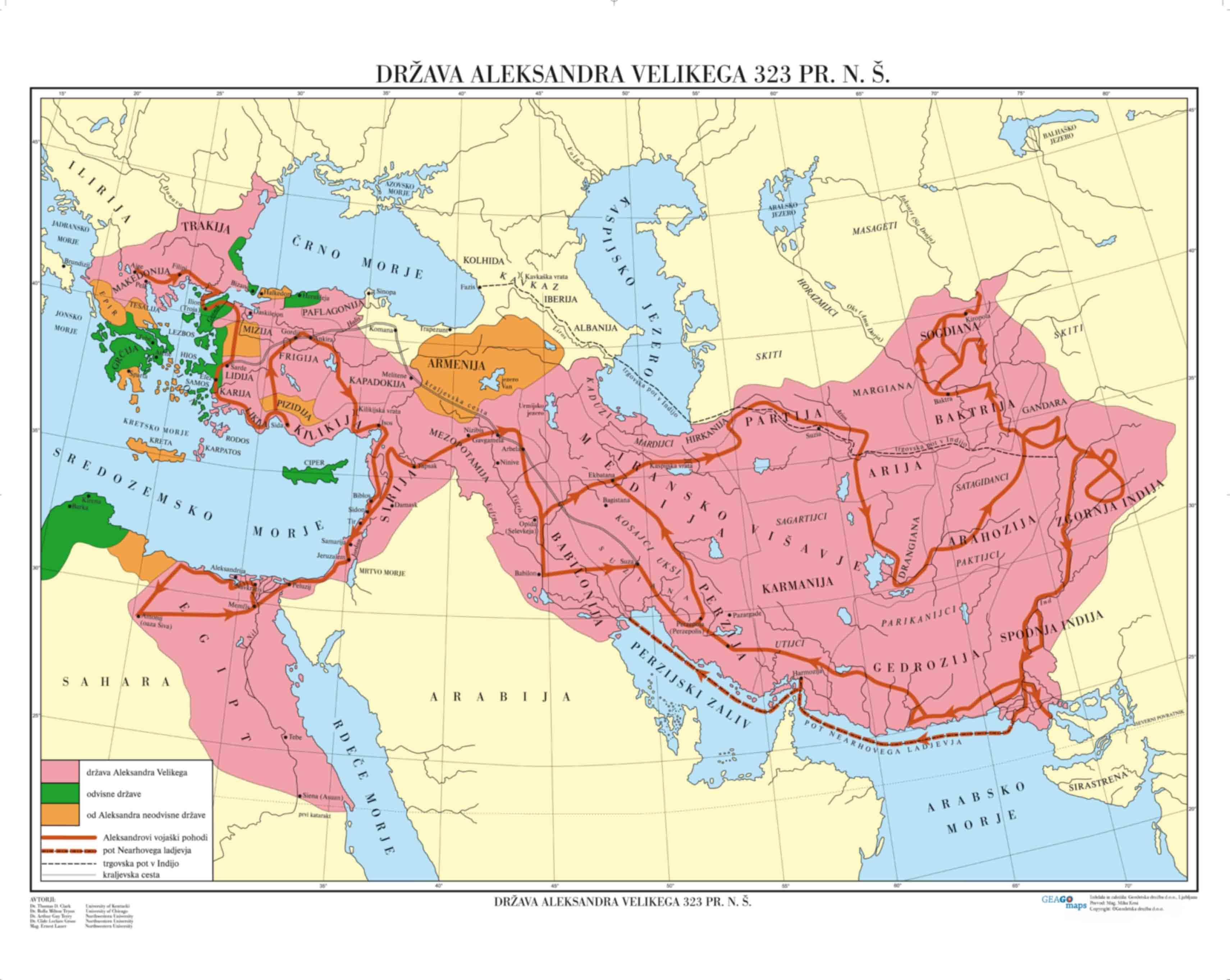 Država Aleksandra Velikega 323 pr.n.p.