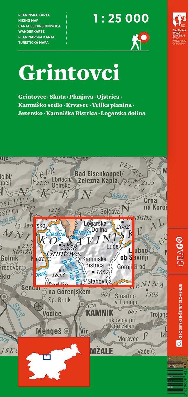 Planinska karta Grintovci