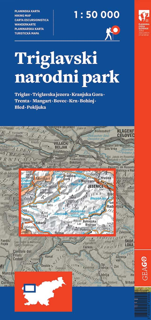 Planinska karta Triglavski narodni park