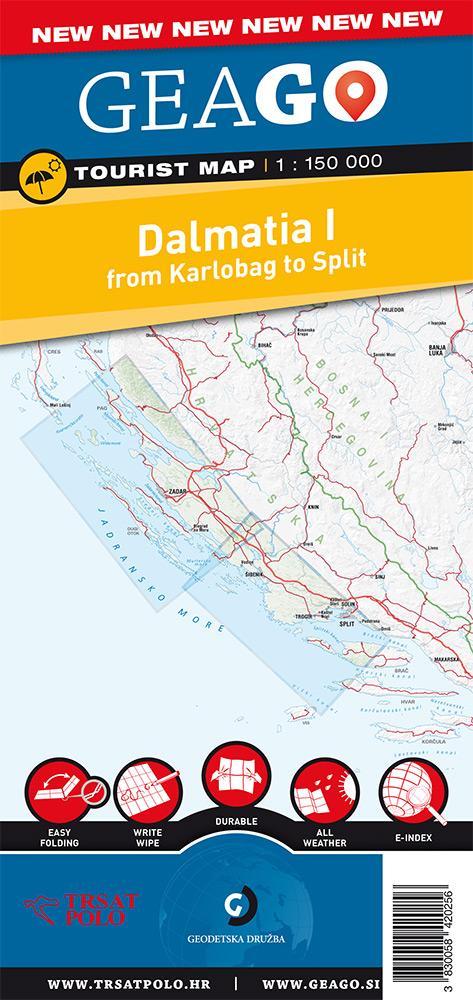 Turistična karta Dalmacija I