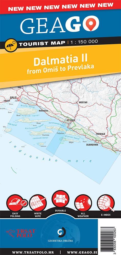 Turistična karta Dalmacija II