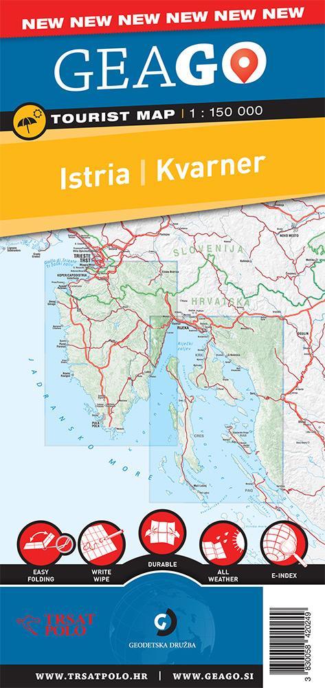 Turistična karta Istra, Kvarner