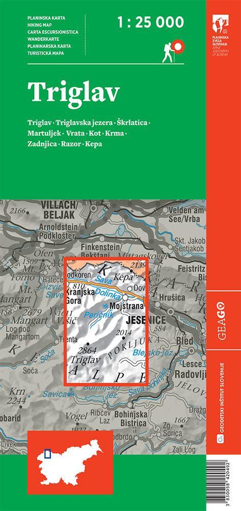 Planinska karta Triglav