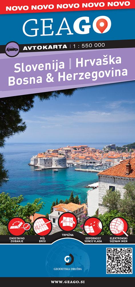 Avtokarta Slovenija, Hrvaška, Bosna in Hercegovina