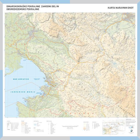Šolska karta Dinarskokraške pokrajine - zahodni del in Obsredozemske pokrajine