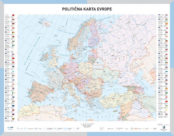 Solska Politicna Karta Evrope Geago Zemljevidi Avtokarte In