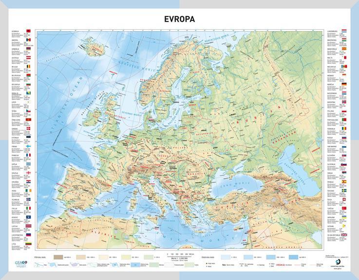Solska Karta Evropa Geago Zemljevidi Avtokarte In Mestne Karte