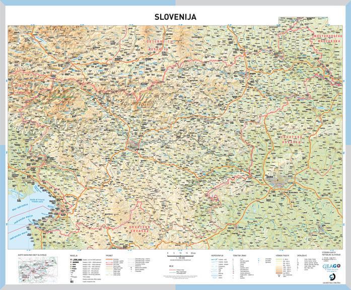 Solska Karta Slovenija Geago Zemljevidi Avtokarte In Mestne Karte