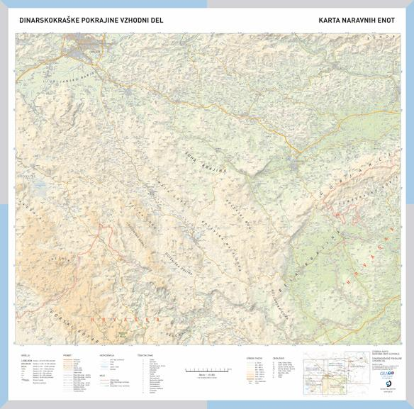 Šolska karta Dinarskokraške pokrajine - vzhodni del