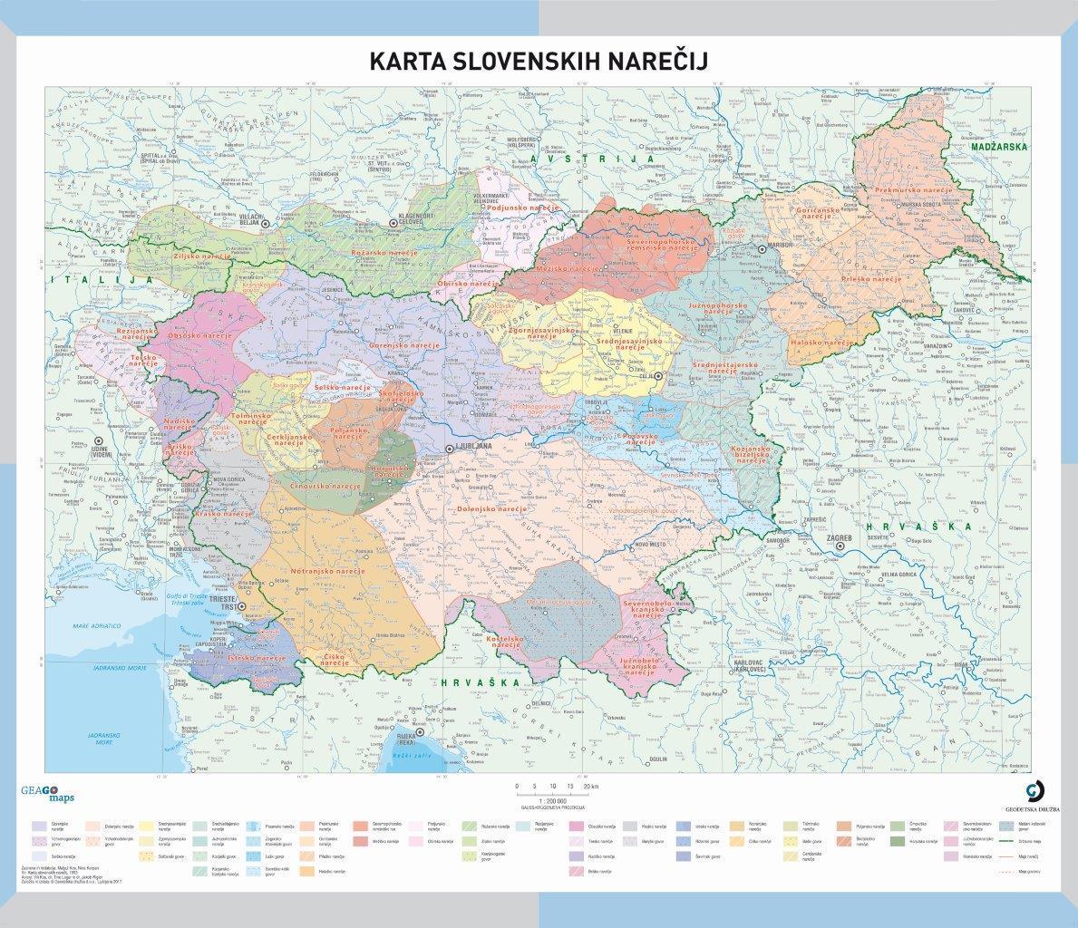 Šolska karta slovenskih narečij