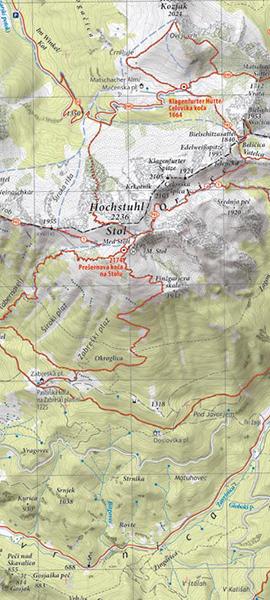 Planinska karta Stol