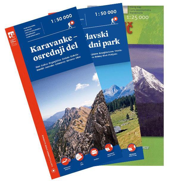 Komplet planinskih kart Karavanke, Triglavski narodni park, Storžič