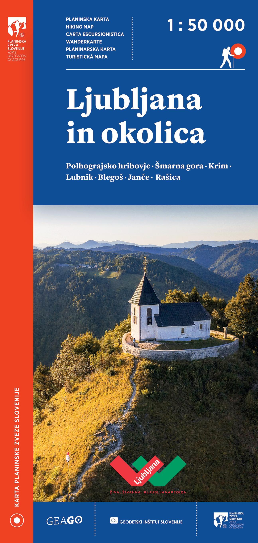 Planinska karta Ljubljana in okolica