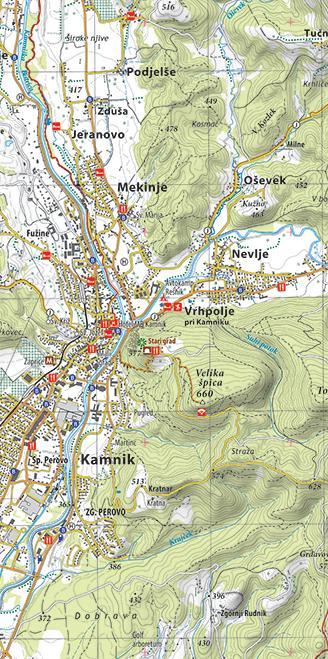 Planinska karta Domžale in okolica