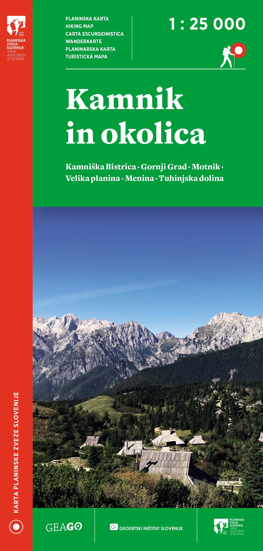 Planinska karta Kamnik in okolica