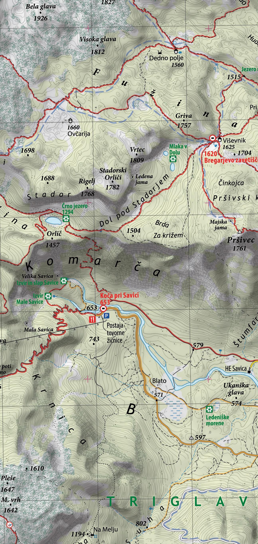 Planinska karta Bohinj