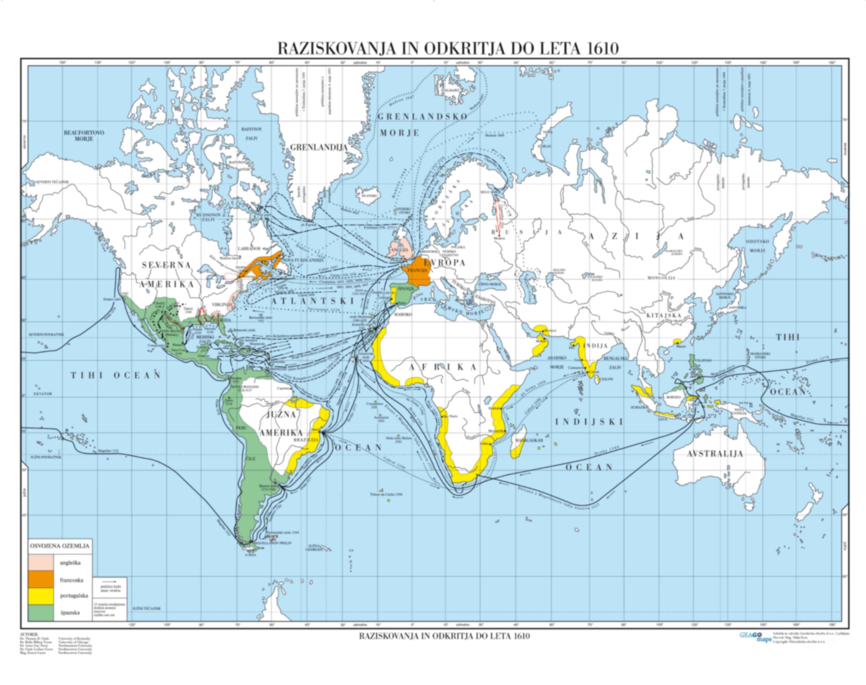 Raziskovanja in odkritja do leta 1610