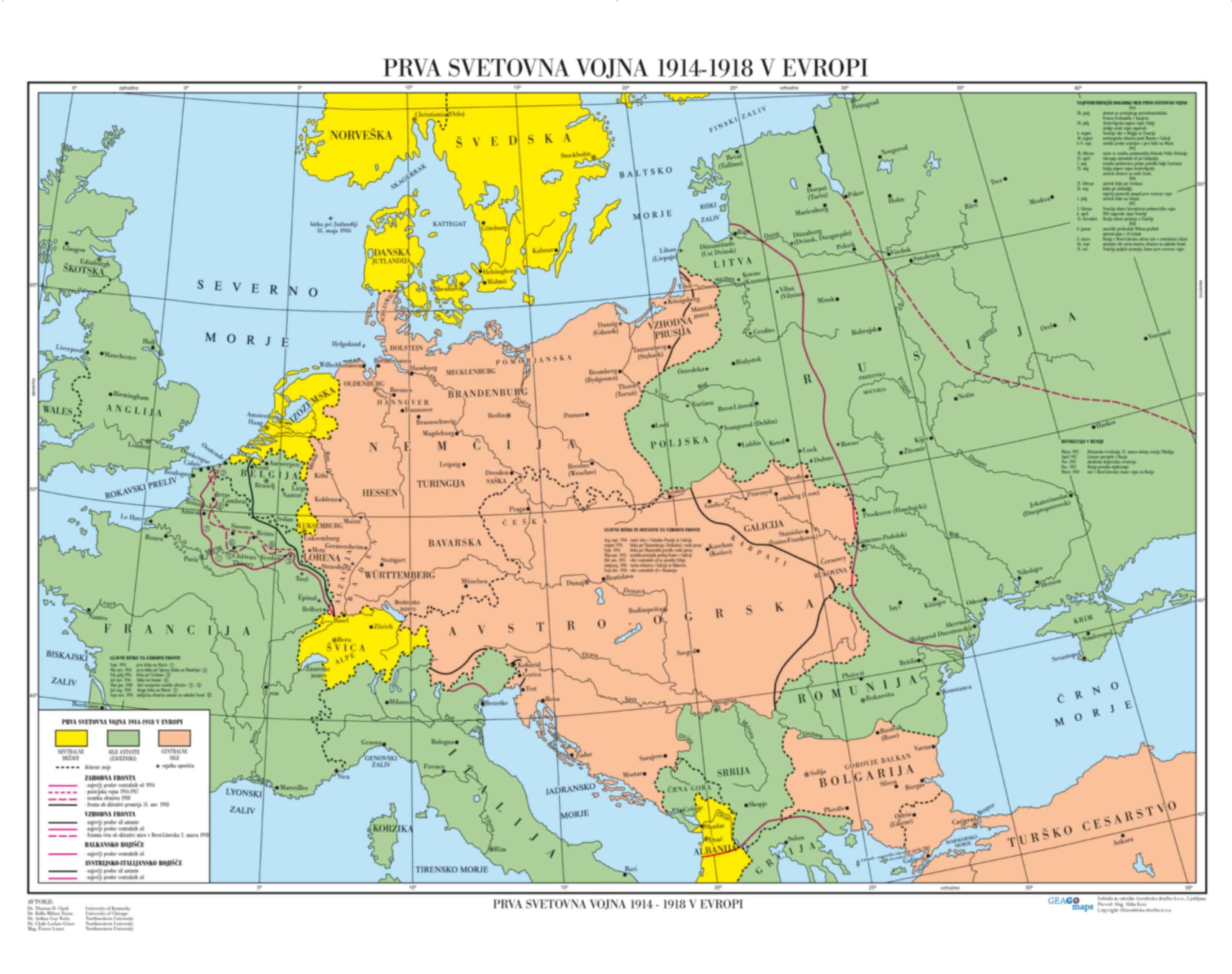 Prva svetovna vojna 1914-1918 v Evropi
