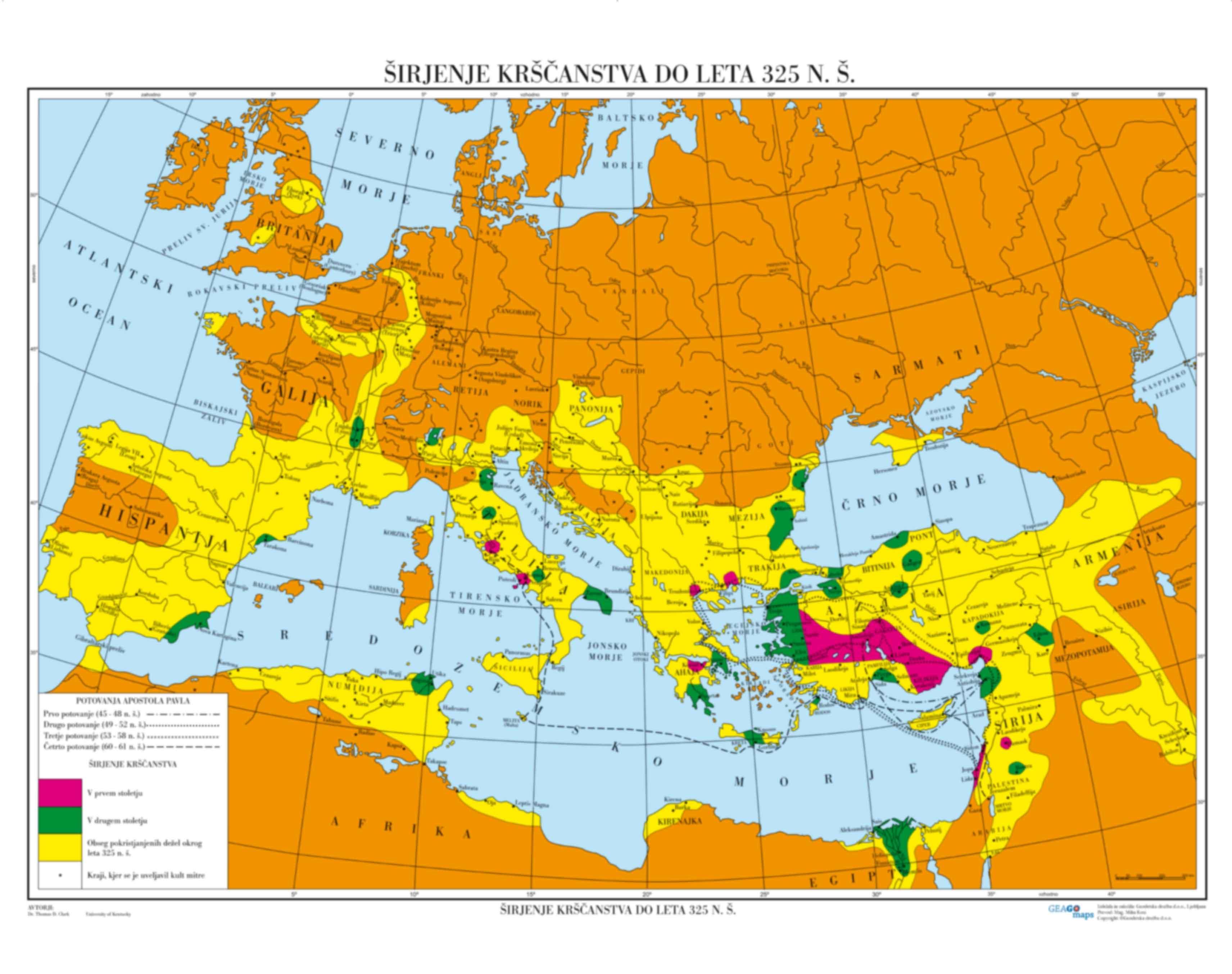 Širjenje Krščanstva do leta 325 n.š.